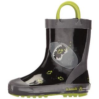 Kids Kamik Girls Chomp Rubber Knee High Pull On Rain Boots - 4 m us toddler