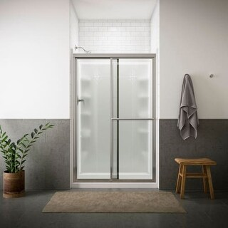 """Sterling 5975-48 Deluxe 70"""" High x 48-7/8"""" Wide Sliding Shower Door with Clear, Frosted, or Pattern Glass"""
