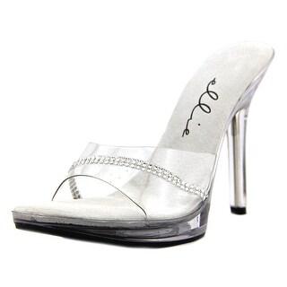 Ellie 502-Jesse Women Open-Toe Synthetic Clear Heels