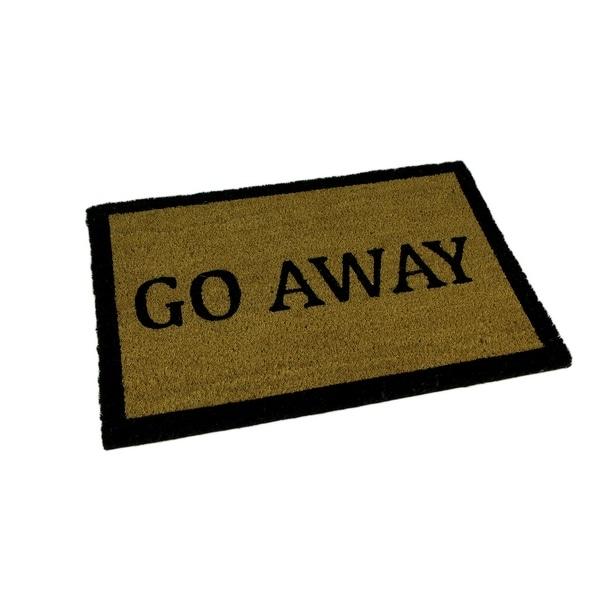 Go Away Natural Coir Indoor Outdoor Doormat 24 x 16 inch - 0.25 X 24 X 16 inches