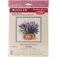 "French Lavender Counted Cross Stitch Kit-9.75""X9.75"" 14 Count"