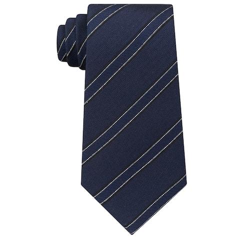Kenneth Cole Reaction Men's Classic Stripe Silk Tie Midnight
