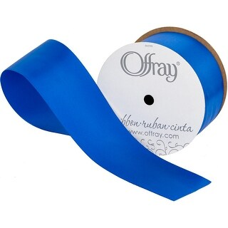 "Single Face Satin Ribbon 2-1/4""X10yd-Royal Blue"