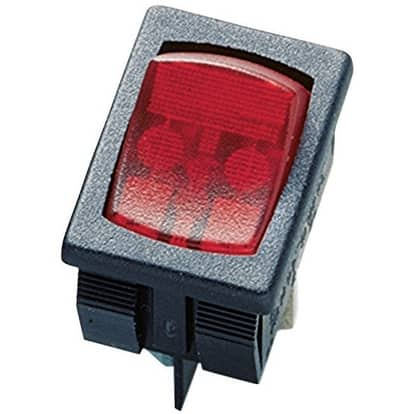 Gardner Bender GSW-48 SPST Mini Rocker Switch, 125 Volt, 10 Amp