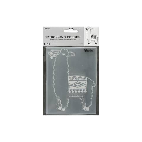 30041346 darice emboss folder llama