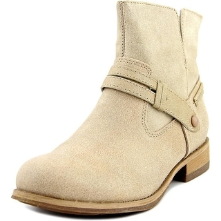 Caterpillar Drew Women Round Toe Leather Nude Ankle Boot