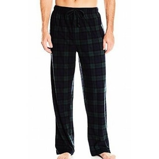 Nautica NEW Green Mens Size Large L Plaid Sleepwear Lounge Pants