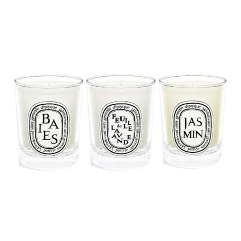 Diptyque Berries, Lavender Leaf, and Jasmine Mini Scented Candles