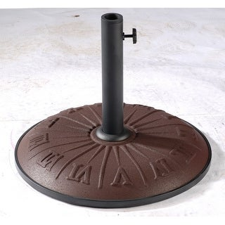 International Caravan 23900AR-15-CH Resin Compound Roman Numeral Umbrella Stand, Chocolate