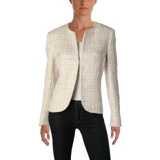 Anne Klein Womens Blazer Tweed Office Wear