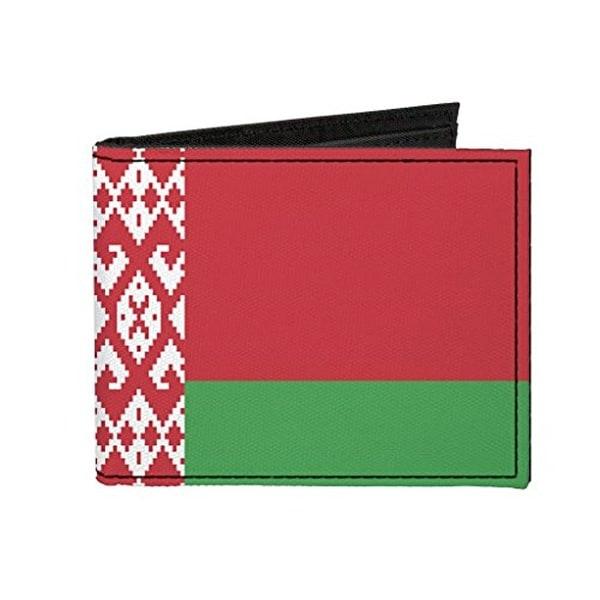 Buckle-Down Canvas Bi-fold Wallet - Belarus Flag Accessory