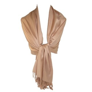 CTM® Women's Classic Pashmina Wrap Scarf Shawl (Pack of 2) - One Size (Option: Gold)