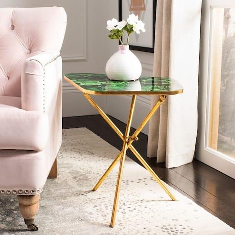"SAFAVIEH Zamara Faux Agate Side Table - 18"" x 24"" x 20"""