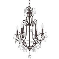Craftmade 1054 4 Light 1 Tier Candle Style Chandelier - 17 Inches Wide