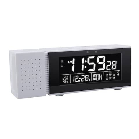Multifunction Night Light LED Display Digital Clock IR Motion Sensor 7 Color With Snooze Temp/RH Monitor FM Radio