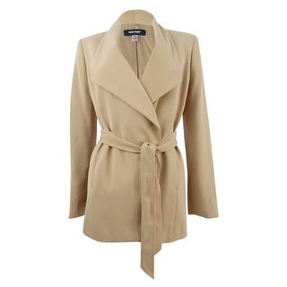 Link to Nine West Women's Tie-Front Trench Blazer (2, Biscotti) - Biscotti Similar Items in Women's Outerwear