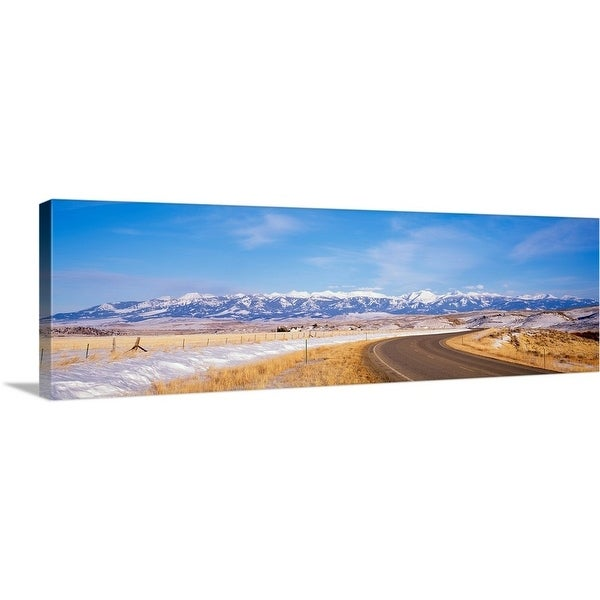 """Road passing through a landscape, Crazy Mountains, Montana"" Canvas Wall Art"