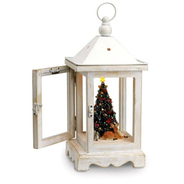 Mr. Christmas Rustic Lighted Fiber Optic Musical Table Top Lantern #78751