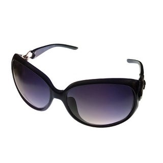 Kenneth Cole Reaction Womens Plastic Sunglass Black Rectangle,  KC1169 1A - Medium