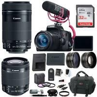 Canon EOS Rebel T6i DSLR Video Creator Kit with 18-55mm & 55-250mm Lens Bundle