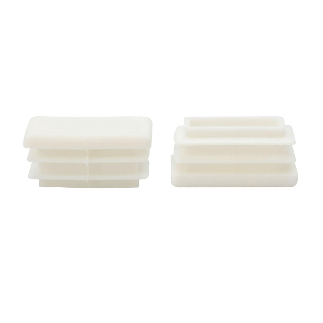 X 30mm Plastic Rectangle Ribbed