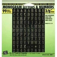 """Hy-Ko MM-1 Mylar Numbers & Letters 3/8"""""""