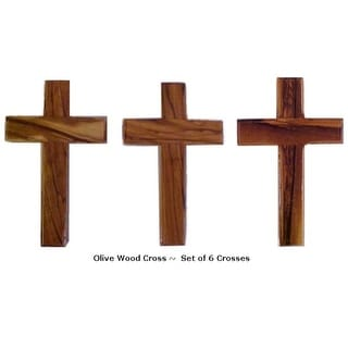 Link to Set of 6 Olive Wood Crosses Similar Items in Board Games