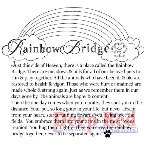 Deep Red Stamps Rainbow Bridge Rubber Cling Stamp - 3.2 x 3