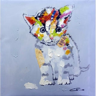 "Bromi Design BA163 Cat 24"" Wide Canvas Art - N/A"