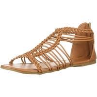 Qupid Women's Caged Flat Sandal - 6.5