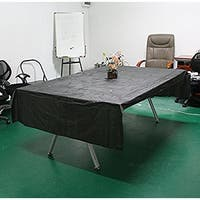 AGPtek Disposable Plastic Table Cover 54 by 108 Inch 137cm*274cm - Black