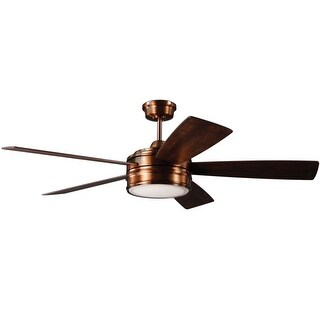 """Craftmade BRX52 Braxton 52"""" 5 Blade Ceiling Fan - Blades, Remote, and LED Light Kit Included"""