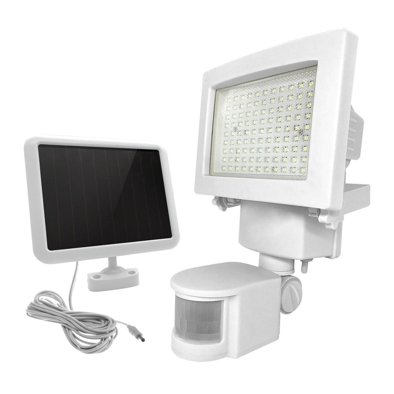 Kanstar White 108 Led Solar Motion Sensor Light Outdoor Garden Ed Security Flood Lights Spot