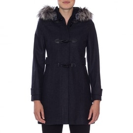 Nautica Faux Fur Trim Toggle Coat
