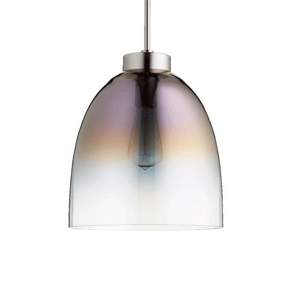 "Quorum International 830 11"" Wide Single Light Pendant with Glass Shade"