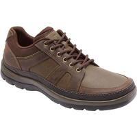 Rockport Men's Get Your Kicks Blucher Dark Brown Leather