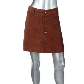 Sanctuary Womens Leather Lined A-Line Skirt