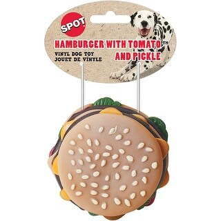"- Classic 3.5"" Vinyl Hamburger With Squeaker"