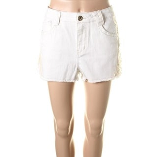 Jolt Womens Denim Lace Trim Cutoff Shorts - 13
