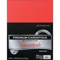 "Heartthrob - Smooth - Core'dinations Value Pack Cardstock 8.5""X11"" 50/Pkg"