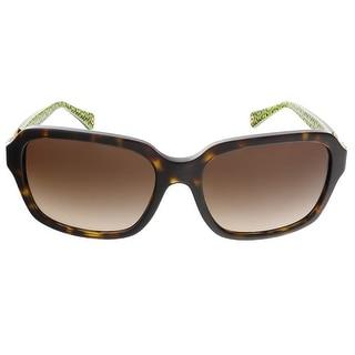 Coach HC8104 523213 Dark Tortoise Rectangular sunglasses
