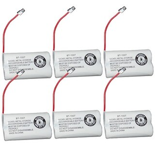 Replacement BT1007 (TL26602) Battery For Uniden DECT1680-6 / DECT1688-6 Phone Models (6 Pack)