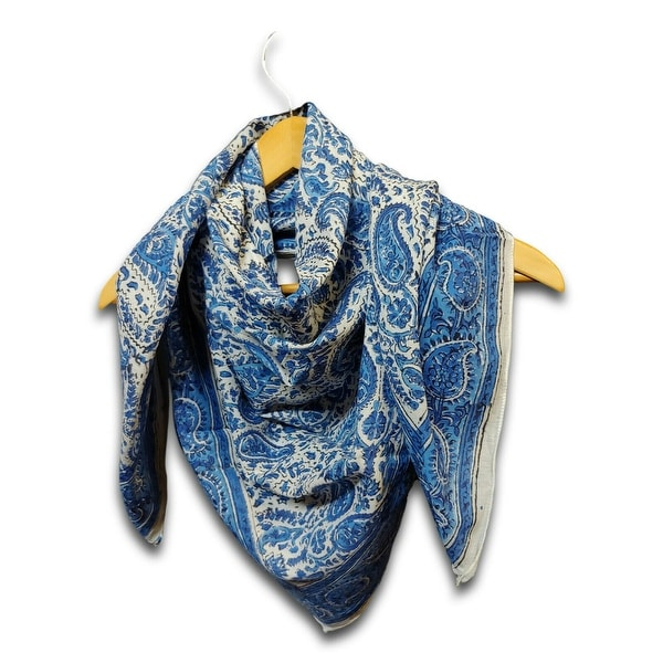 Large Cotton Scarfs for Women Lightweight Soft Sheer Neck Scarf, Head Scarf, Block Print Summer Floral Scarf, Bandanas for Women. Opens flyout.