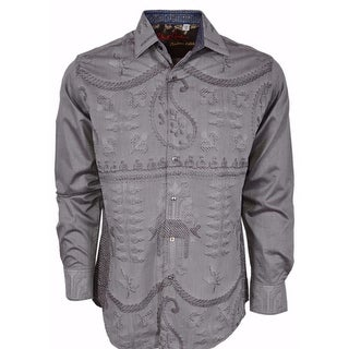 Robert Graham Classic Fit LandMass Taupe Limited Edition Sport Shirt 4XL