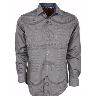 Robert Graham Classic Fit LandMass Taupe Limited Edition Sport Shirt XL
