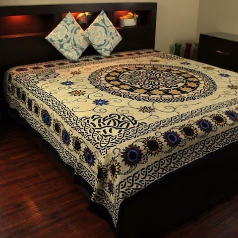 Cotton Celtic Knots Tapestry Wall Hanging Sunflower Mandala Tablecloth Coverlet Full Bedspread Dorm Decor Beach Sheet Twin