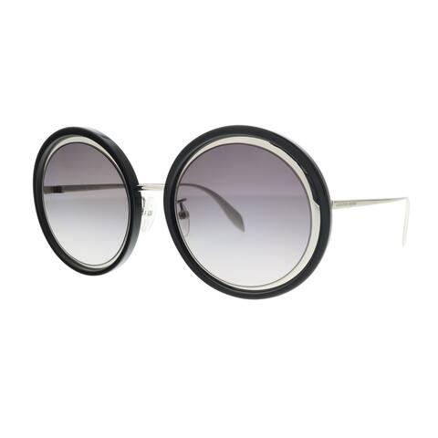 Alexander McQueen AM0150S 002 Silver Round Sunglasses - 53-22-145