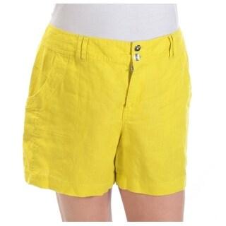 INC Womens Yellow Rhinestone Short Size: 12