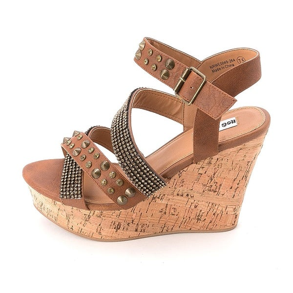 Not Rated Womens Don't Look Back Open Toe Casual Platform Sandals