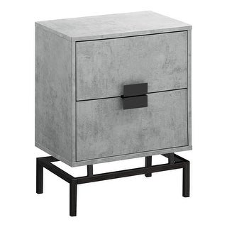 "23.5"" Gray and Black Contemporary Rectangular Accent Table - N/A"